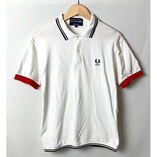 コムデギャルソン(COMME des GARCONS)のフレッドペリー ギャルソン シャツ CDG刺繍 袖リブ赤 鹿の子 ポロシャツ S(ポロシャツ)