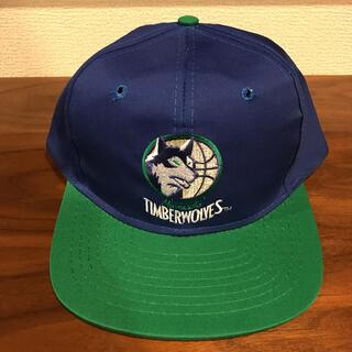 未使用 デッドストック 90s vintage timberwolves cap