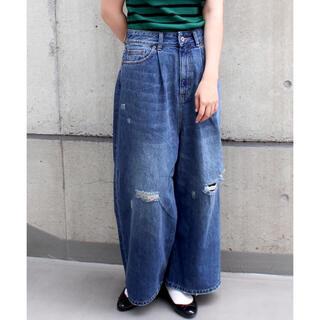Dot&Stripes CHILDWOMAN - My Fav. CHILD WOMAN 12.5OZ ダメージ加工ワイドデニム