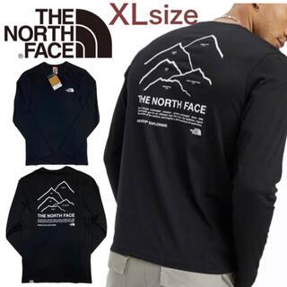 THE NORTH FACE - ザ ノースフェイス ロンT ピークス 長袖 ブラック NF0A5IKN XL