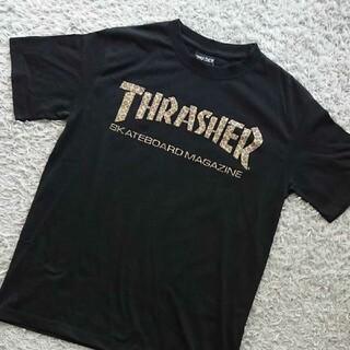 THRASHER - THRASHER Tシャツ ヒョウ柄ロゴ