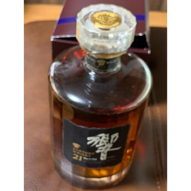 サントリー(サントリー)のサントリー 響21年 初代ボトル 旧ボトル カガミクリスタル  未開栓 食品/飲料/酒の酒(ウイスキー)の商品写真
