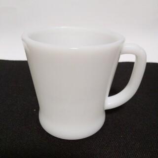 ファイヤーキング(Fire-King)のファイヤーキング マグカップ ホワイト ヴィンテージ(グラス/カップ)