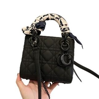 Christian Dior - christian diorマットな黒いハンドバッグ#17