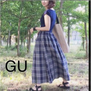 GU - GU【美品】布帛コンビワンピース