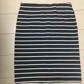 UNIQLO - ユニクロ ボーダータイトスカート ボーダースカート サイズL