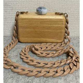 Lochie - 大理石とウッドのデザインクラッチバッグ