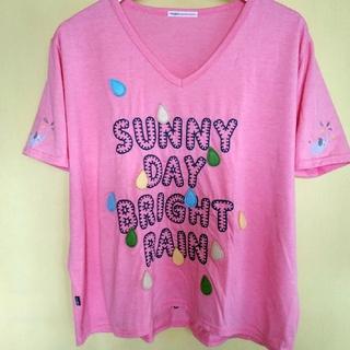 ラフ(rough)のrough ゾウの水遊び 半袖 Vネック Tシャツ(Tシャツ(半袖/袖なし))
