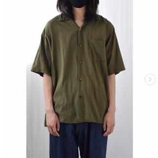 COMOLI - COMOLI 21ss  ベタシャンオープンカラーシャツ オリーブ size2