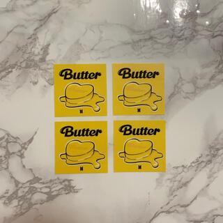 ボウダンショウネンダン(防弾少年団(BTS))のBTS 'Butter' コンセプト透明ステッカー×4枚(アイドルグッズ)