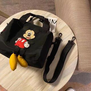ZARA - @新品@ディズニーミッキーマウスとZARAコラボ ショルダーバッグ 2way