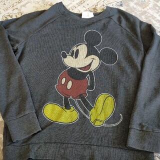 ディズニー(Disney)のディズニー スウェット トレーナー ミッキー mickey 古着(スウェット)
