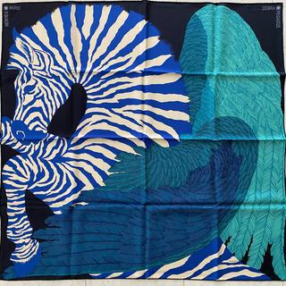 エルメス(Hermes)のご専用 HERMES スカーフ カレ90 ゼブラ・ペガサス(バンダナ/スカーフ)