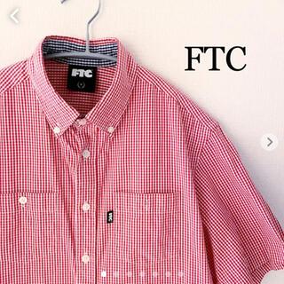 エフティーシー(FTC)のFTC 半袖 チェックシャツ Sサイズ ギンガムチェック 日本製(シャツ)