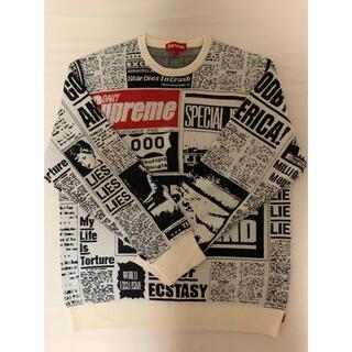 シュプリーム(Supreme)のSupreme Newsprint Sweater Lサイズ(ニット/セーター)