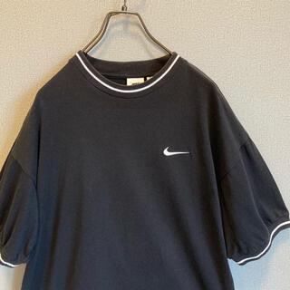 NIKE - 90s NIKE リンガー Tシャツ ブラックゆるだぼ vintage