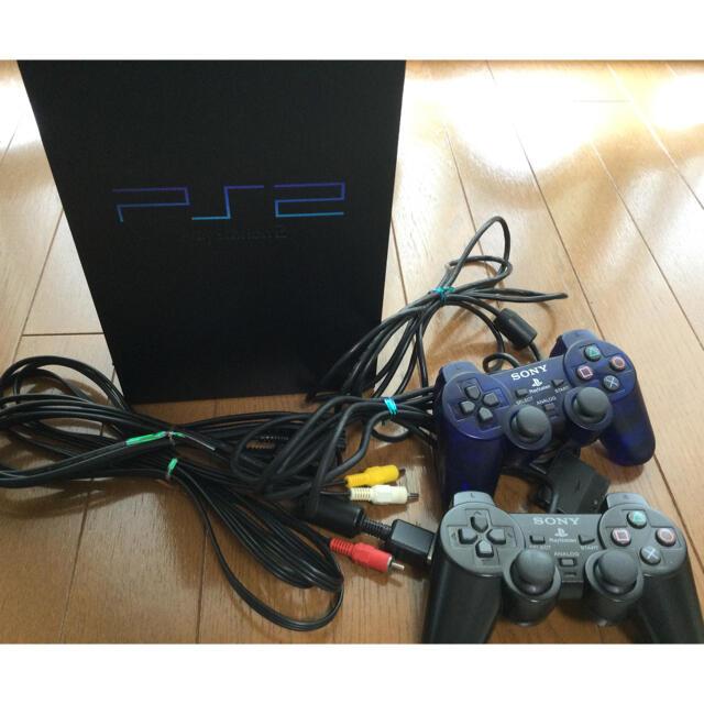 PlayStation2(プレイステーション2)のプレイステーション2 プレステ2 ⭐️ゲーム機、コントローラー、ケーブルセット エンタメ/ホビーのゲームソフト/ゲーム機本体(家庭用ゲーム機本体)の商品写真