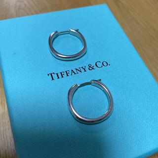 Tiffany & Co. - ティファニー クッションフープピアス シルバー サークル リング