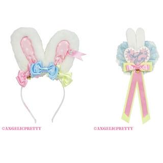Angelic Pretty - カラフルリボンリリカルカチューシャ&ブローチ