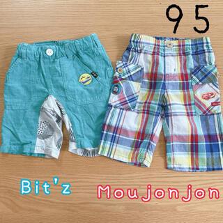 mou jon jon - 95サイズ◎ハーフパンツセット ムージョンジョン Bit'z