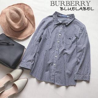 バーバリーブルーレーベル(BURBERRY BLUE LABEL)のバーバリーブルーレーベル ギンガムチェックシャツ(シャツ/ブラウス(長袖/七分))