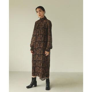 トゥデイフル(TODAYFUL)のTODAYFUL Georgette Leaf Dress back 38(ロングワンピース/マキシワンピース)