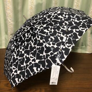 クリニーク(CLINIQUE)の晴雨兼用  傘 クリニーク モノトーン ハート  [新品未使用](傘)