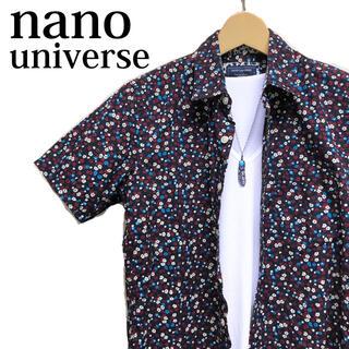 ナノユニバース(nano・universe)のnano universe 半袖シャツ 総柄シャツ 小花柄シャツ カッターシャツ(シャツ)
