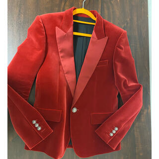 BALMAIN - BALMAIN バルマン 赤 ジャケット