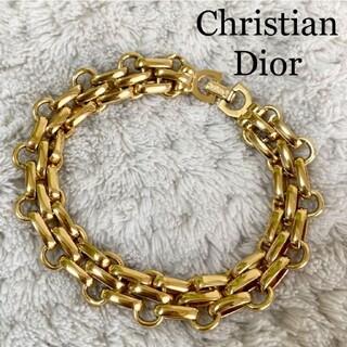 クリスチャンディオール(Christian Dior)の希少 ★ クリスチャンディオール 80s ヴィンテージ ブレスレット ゴールドわ(ブレスレット/バングル)
