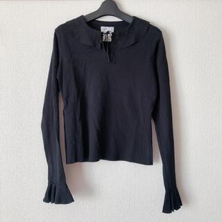 agnes b. - アニエスベー  襟つきトップス ラッフルカラー フリル襟 iena zara