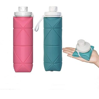ウォーターボトル アウトドア ケトル 折りたたみ ボトル携帯用 600ml大容量(水筒)