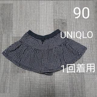 UNIQLO - UNIQLO ユニクロ キュロットパンツ ショートパンツ 千鳥格子 90