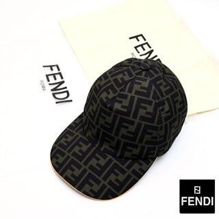 FENDI - 新品 2021SS FENDI グリーンキャンバス ベースボールキャップ