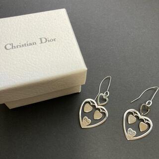 クリスチャンディオール(Christian Dior)のクリスチャンディオール ハート ピアス シルバー(ピアス)