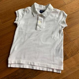ラルフローレン(Ralph Lauren)のラルフローレン ホワイト ポロシャツ 90cm 女の子(Tシャツ/カットソー)