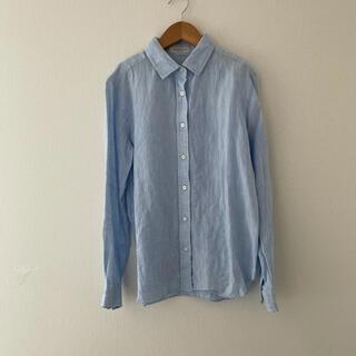 トゥモローランド(TOMORROWLAND)のマカフィー リネン シャツ 水色 ブルー(シャツ/ブラウス(長袖/七分))