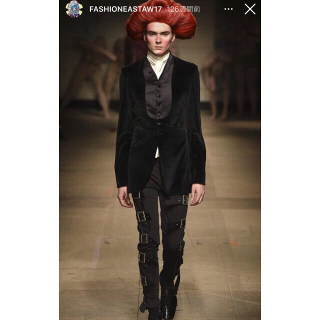 COMME des GARCONS HOMME PLUS(コムデギャルソンオムプリュス)のcharles jeffrey loverboy バックルパンツ 17aw メンズのパンツ(スラックス)の商品写真
