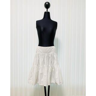 ラルフローレン(Ralph Lauren)のラルフローレン コレクション ラルフ ホワイト フレアスカート スカート フレア(ひざ丈スカート)