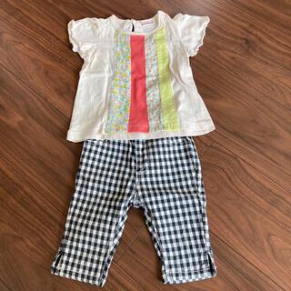 ブランシェス(Branshes)のブランシェス Tシャツ、ハーフパンツセット サイズ80(Tシャツ)