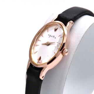 agete - 【agete】アガット 時計 オーバル 'ゴールドカラー' ホワイト ☆極美品☆