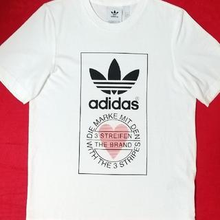 adidas - アディダス バレンタイン ビックロゴ ハート 白 ホワイト 限定販売 即購入可