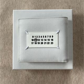 マルタンマルジェラ(Maison Martin Margiela)の21SS新品 メゾン マルジェラ スプラッシュ ペイント 折り財布 メンズ 白(折り財布)