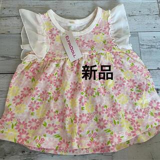西松屋 - 新品 西松屋 ピンク 花柄 シャツ 100cm
