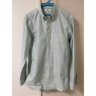 ユニクロ(UNIQLO)のユニクロ UNIQLO オックスフォードシャツ グリーン ストライプ(シャツ)