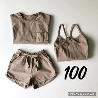 futafuta - 100 セットアップ Tシャツ パンツ キャミソール 3点セット 韓国子供服