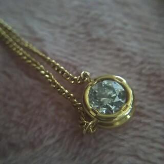 ダイヤモンドネックレス K18  0.33ct