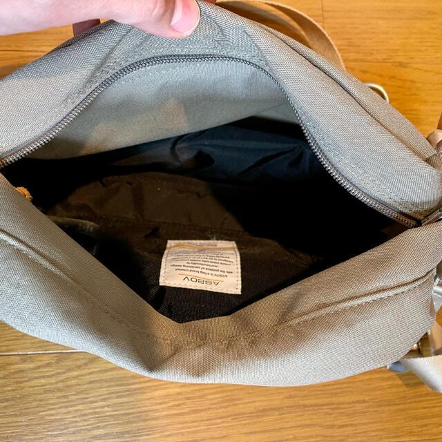master-piece(マスターピース)のAS2OV アッソブ ミニショルダー ダークベージュ unby アンバイ メンズのバッグ(ショルダーバッグ)の商品写真