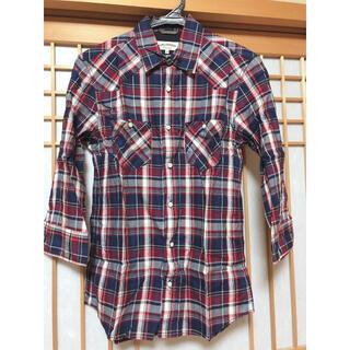 ナノユニバース(nano・universe)のナノユニバース チェックシャツ メンズ 7分袖(Tシャツ/カットソー(七分/長袖))