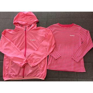 mont bell - モンベル 女の子用 ウィンドブラストパーカ150㎝ 長袖Tシャツ140㎝ ピンク